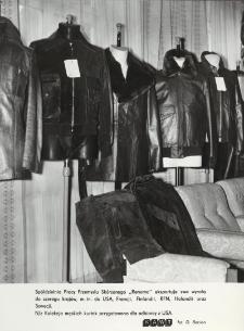"""Skórzane kurtki męskie z """"Renomy"""" przeznaczone na eksport do USA"""