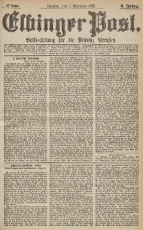 Elbinger Post, Nr.286 Dienstag 7 Dezember 1875, 2 Jh