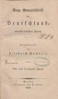 Neue Monatsschrift für Deutschland, Historisch-Politischen Inhalts, 1832, Bd. 38.