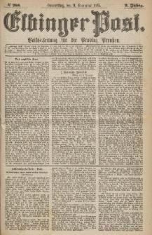 Elbinger Post, Nr.288 Donnerstag 9 Dezember 1875, 2 Jh