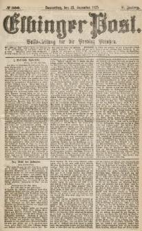 Elbinger Post, Nr.300 Donnerstag 23 Dezember 1875, 2 Jh