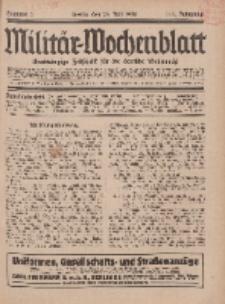 Militär-Wochenblatt : unabhängige Zeitschrift für die deutsche Wehrmacht, 111. Jahrgang, 25. Juli 1926, Nr 4.