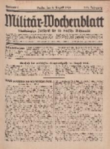 Militär-Wochenblatt : unabhängige Zeitschrift für die deutsche Wehrmacht, 111. Jahrgang, 4. August 1926, Nr 5.