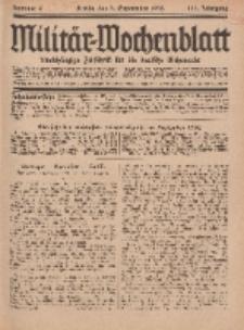 Militär-Wochenblatt : unabhängige Zeitschrift für die deutsche Wehrmacht, 111. Jahrgang, 4. September 1926, Nr 9.