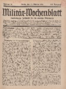 Militär-Wochenblatt : unabhängige Zeitschrift für die deutsche Wehrmacht, 111. Jahrgang, 11 Oktober 1926, Nr 14.