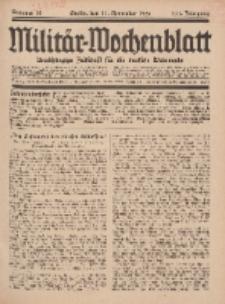 Militär-Wochenblatt : unabhängige Zeitschrift für die deutsche Wehrmacht, 111. Jahrgang, 11. November 1926, Nr 18.