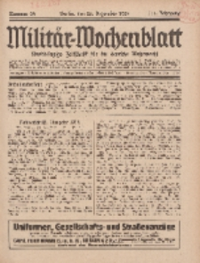 Militär-Wochenblatt : unabhängige Zeitschrift für die deutsche Wehrmacht, 111. Jahrgang, 25. Dezember 1926, Nr 24.