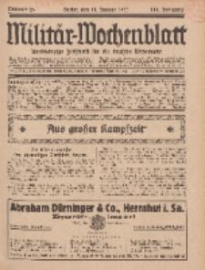 Militär-Wochenblatt : unabhängige Zeitschrift für die deutsche Wehrmacht, 111. Jahrgang, 11. Januar 1927, Nr 26.