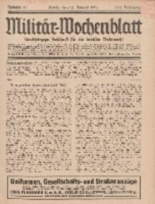 Militär-Wochenblatt : unabhängige Zeitschrift für die deutsche Wehrmacht, 111. Jahrgang, 18. Januar 1927, Nr 27.