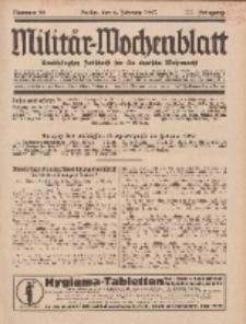 Militär-Wochenblatt : unabhängige Zeitschrift für die deutsche Wehrmacht, 111. Jahrgang, 4. Februar 1927, Nr 29.
