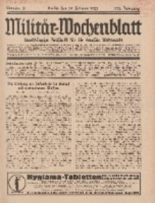 Militär-Wochenblatt : unabhängige Zeitschrift für die deutsche Wehrmacht, 111. Jahrgang, 18. Februar 1927, Nr 31.