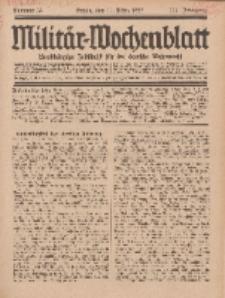Militär-Wochenblatt : unabhängige Zeitschrift für die deutsche Wehrmacht, 111. Jahrgang, 11. März 1927, Nr 34.