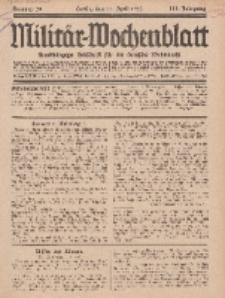 Militär-Wochenblatt : unabhängige Zeitschrift für die deutsche Wehrmacht, 111. Jahrgang, 11. April 1927, Nr 38.