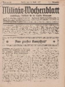 Militär-Wochenblatt : unabhängige Zeitschrift für die deutsche Wehrmacht, 111. Jahrgang, 18. April 1927, Nr 39.