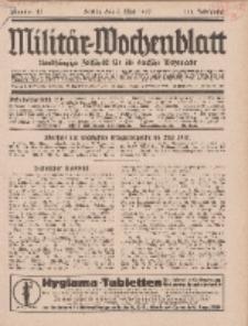 Militär-Wochenblatt : unabhängige Zeitschrift für die deutsche Wehrmacht, 111. Jahrgang, 4. Mai 1927, Nr 41.
