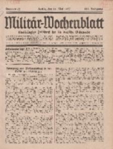 Militär-Wochenblatt : unabhängige Zeitschrift für die deutsche Wehrmacht, 111. Jahrgang, 11. Mai 1927, Nr 42.