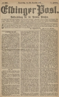Elbinger Post, Nr.305 Donnerstag 30 Dezember 1875, 2 Jh