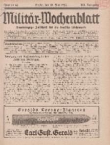 Militär-Wochenblatt : unabhängige Zeitschrift für die deutsche Wehrmacht, 111. Jahrgang, 18. Mai 1927, Nr 43.