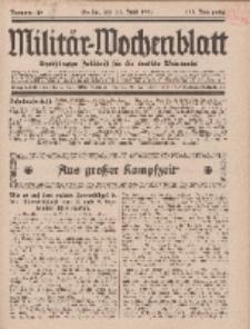 Militär-Wochenblatt : unabhängige Zeitschrift für die deutsche Wehrmacht, 111. Jahrgang, 11. Juni 1927, Nr 46.