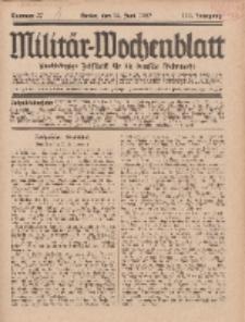 Militär-Wochenblatt : unabhängige Zeitschrift für die deutsche Wehrmacht, 111. Jahrgang, 18. Juni 1927, Nr 47.