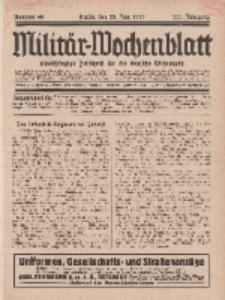 Militär-Wochenblatt : unabhängige Zeitschrift für die deutsche Wehrmacht, 111. Jahrgang, 25. Juni 1927, Nr 48.