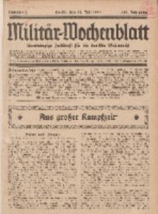 Militär-Wochenblatt : unabhängige Zeitschrift für die deutsche Wehrmacht, 112. Jahrgang, 11. Juli 1927, Nr 2.