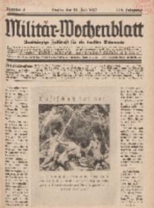 Militär-Wochenblatt : unabhängige Zeitschrift für die deutsche Wehrmacht, 112. Jahrgang, 18. Juli 1927, Nr 3.