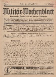 Militär-Wochenblatt : unabhängige Zeitschrift für die deutsche Wehrmacht, 112. Jahrgang, 4. August 1927, Nr 5.