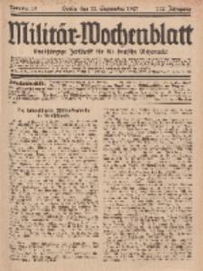 Militär-Wochenblatt : unabhängige Zeitschrift für die deutsche Wehrmacht, 112. Jahrgang, 11. September 1927, Nr 10.