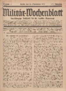 Militär-Wochenblatt : unabhängige Zeitschrift für die deutsche Wehrmacht, 112. Jahrgang, 18. September 1927, Nr 11.