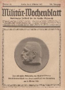 Militär-Wochenblatt : unabhängige Zeitschrift für die deutsche Wehrmacht, 112. Jahrgang, 2. Oktober 1927, Nr 13.