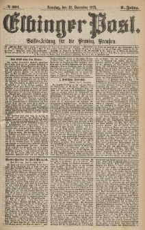 Elbinger Post, Nr.291 Sonntag 12 Dezember 1875, 2 Jh