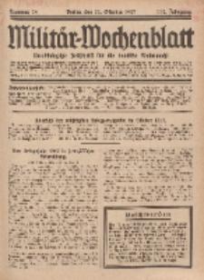 Militär-Wochenblatt : unabhängige Zeitschrift für die deutsche Wehrmacht, 112. Jahrgang, 11. Oktober 1927, Nr 14.