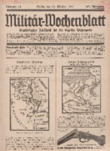 Militär-Wochenblatt : unabhängige Zeitschrift für die deutsche Wehrmacht, 112. Jahrgang, 18. Oktober 1927, Nr 15.