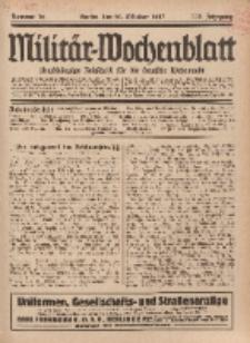 Militär-Wochenblatt : unabhängige Zeitschrift für die deutsche Wehrmacht, 112. Jahrgang, 25. Oktober 1927, Nr 16.