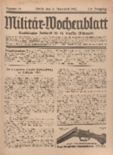Militär-Wochenblatt : unabhängige Zeitschrift für die deutsche Wehrmacht, 112. Jahrgang, 18. November 1927, Nr 19.