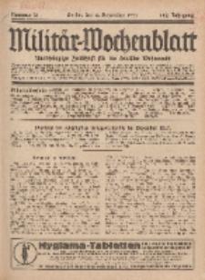 Militär-Wochenblatt : unabhängige Zeitschrift für die deutsche Wehrmacht, 112. Jahrgang, 4. Dezember 1927, Nr 21.