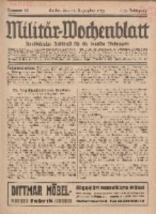 Militär-Wochenblatt : unabhängige Zeitschrift für die deutsche Wehrmacht, 112. Jahrgang, 11. Dezember 1927, Nr 22.