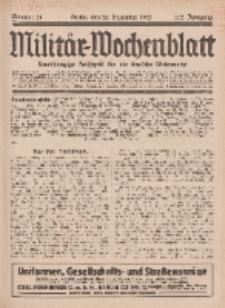 Militär-Wochenblatt : unabhängige Zeitschrift für die deutsche Wehrmacht, 112. Jahrgang, 25. Dezember 1927, Nr 24.