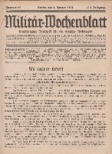 Militär-Wochenblatt : unabhängige Zeitschrift für die deutsche Wehrmacht, 112. Jahrgang, 4. Januar 1928, Nr 25.