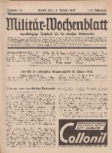 Militär-Wochenblatt : unabhängige Zeitschrift für die deutsche Wehrmacht, 112. Jahrgang, 11. Januar 1928, Nr 26.