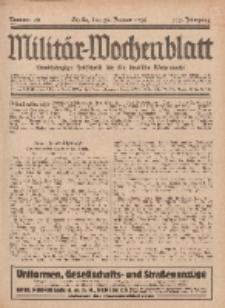 Militär-Wochenblatt : unabhängige Zeitschrift für die deutsche Wehrmacht, 112. Jahrgang, 25. Januar 1928, Nr 28.