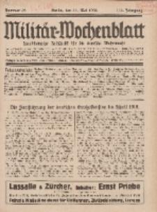 Militär-Wochenblatt : unabhängige Zeitschrift für die deutsche Wehrmacht, 112. Jahrgang, 11. Mai 1928, Nr 42.