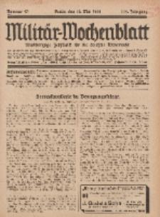 Militär-Wochenblatt : unabhängige Zeitschrift für die deutsche Wehrmacht, 112. Jahrgang, 18. Mai 1928, Nr 43.