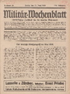 Militär-Wochenblatt : unabhängige Zeitschrift für die deutsche Wehrmacht, 112. Jahrgang, 11. Juni 1928, Nr 46.