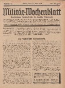 Militär-Wochenblatt : unabhängige Zeitschrift für die deutsche Wehrmacht, 112. Jahrgang, 18. Juni 1928, Nr 47.