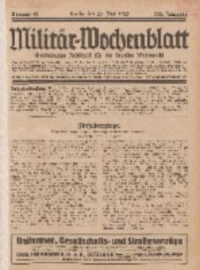 Militär-Wochenblatt : unabhängige Zeitschrift für die deutsche Wehrmacht, 112. Jahrgang, 25. Juni 1928, Nr 48.