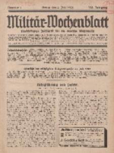 Militär-Wochenblatt : unabhängige Zeitschrift für die deutsche Wehrmacht, 113. Jahrgang, 4. Juli 1928, Nr 1.