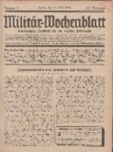 Militär-Wochenblatt : unabhängige Zeitschrift für die deutsche Wehrmacht, 113. Jahrgang, 18. Juli 1928, Nr 3.