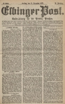 Elbinger Post, Nr.295 Freitag 17 Dezember 1875, 2 Jh